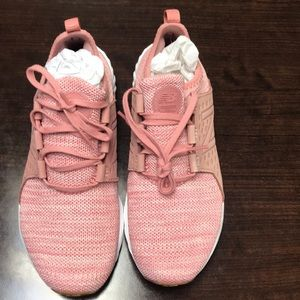Pink tennis shoes